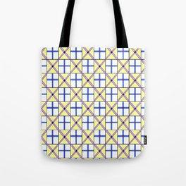 symetric tartan and gingham 1 -vichy, gingham,strip,square,geometric, sober,tartan Tote Bag