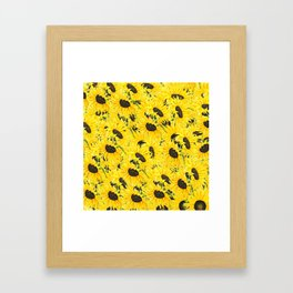 sunflower pattern 2018 1 Framed Art Print