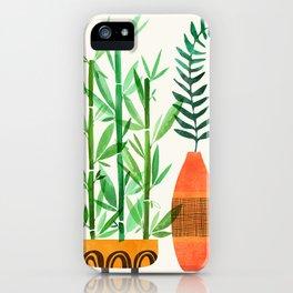 Bamboo + Fern / Botanical Illustration iPhone Case