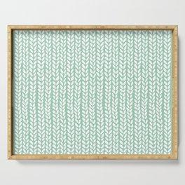 Knit Wave Mint Serving Tray