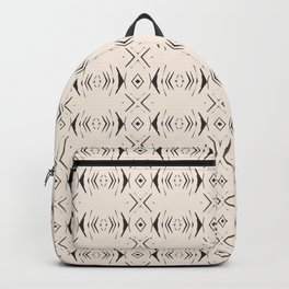 Thin Arrow Diamond African Pattern Backpack