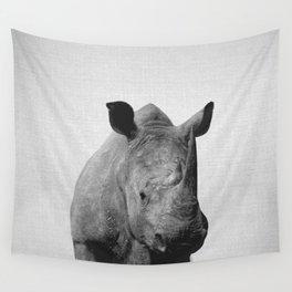 Rhino - Black & White Wall Tapestry