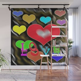 hearts of love Wall Mural
