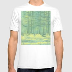 The Clearing White MEDIUM Mens Fitted Tee