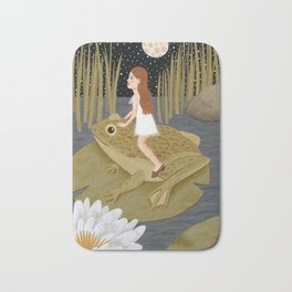 toad in the night Bath Mat