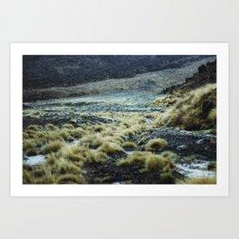 Misty way II (Tongariro, New Zealand) Art Print