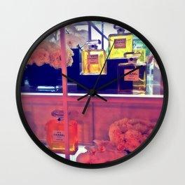 CocoNo.5 Floral Exhibit Close Up Wall Clock