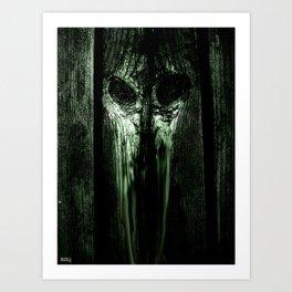 The Evil Woodboard  Art Print