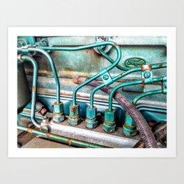 FoMoCo Generator Motor - Teal Industrial Art Photo Art Print