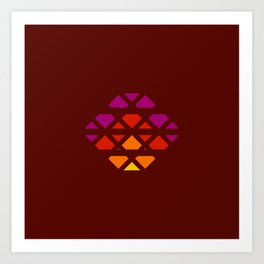 Bron - Colorful Decorative Abstract Art Pattern Art Print