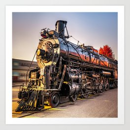Wichita Kansas Train Station Locomotive Art Print