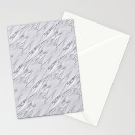 Black White Actual Real Classic Marble Stone Stationery Cards