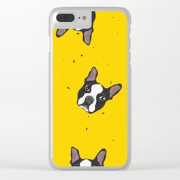 Boston Terrier in Paradise Clear iPhone Case
