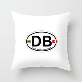 Dewey Beach - Delaware. Throw Pillow