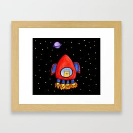 Impossible Astronaut Framed Art Print