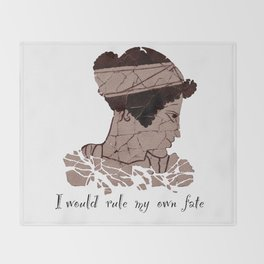 I Would Rule my Own Fate - Helen of Sparta Throw Blanket