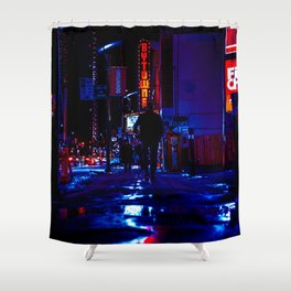 out for the night Shower Curtain