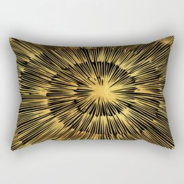 gold spiral Rectangular Pillow