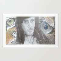 jared leto Art Prints featuring Jared Leto by Equalsnine-art