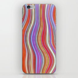 Wild Wavy Lines I iPhone Skin