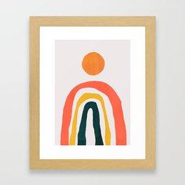 Sunrise over rainbow hill Framed Art Print