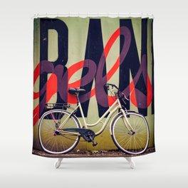 Bike and graffiti  Shower Curtain