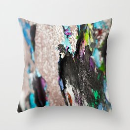 Old graffiti Throw Pillow