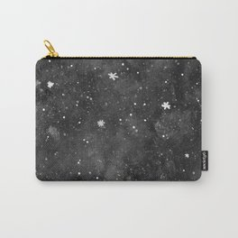 Watercolor galaxy - black and white Carry-All Pouch