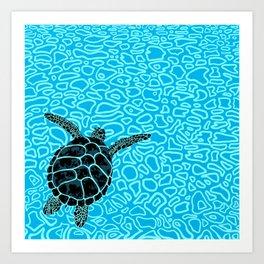 Sea Turtle by Black Dwarf Designs Art Print