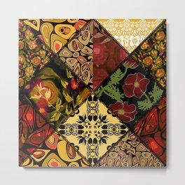 Rustic colorful patchwork. Metal Print
