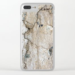 White Decay IV Clear iPhone Case