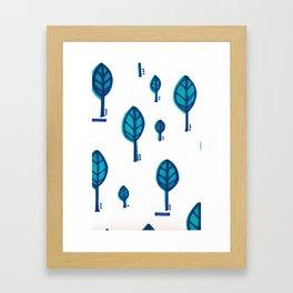 Standing Leaf Print Close Up Framed Art Print