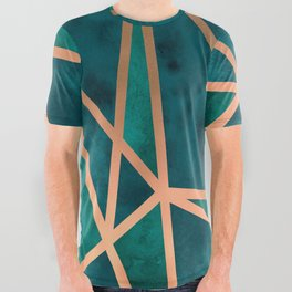 Copper & Emerald Geo All Over Graphic Tee