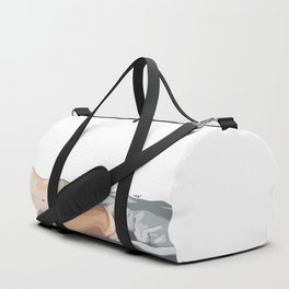 Lazy girl in bed Duffle Bag