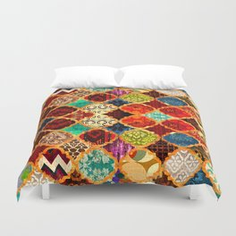 -A32- Epic Colored Traditional Moroccan Artwork. Duvet Cover