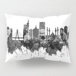 Lagos Nigeria Skyline BW Pillow Sham