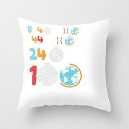 100 days of School Class Elementary Pupil Preschool Throw Pillow