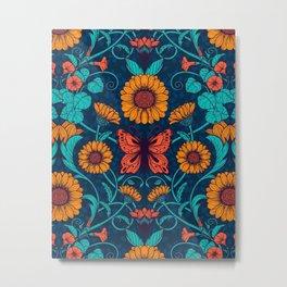 Art Nouveau daisies 2  Metal Print