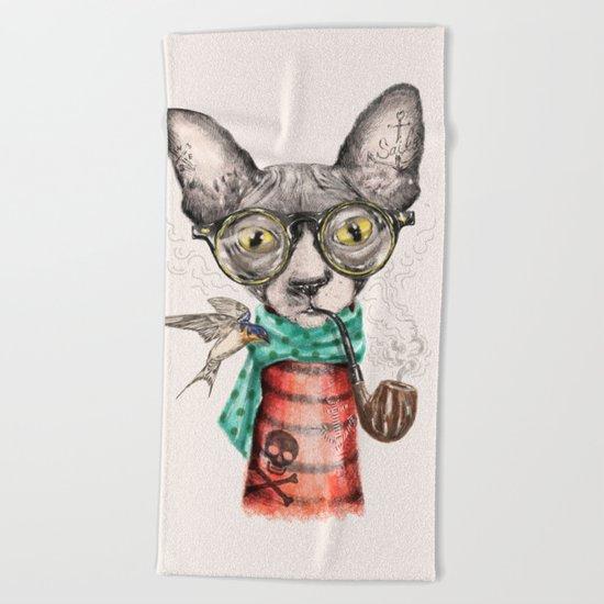 Mr.Peterbald Beach Towel
