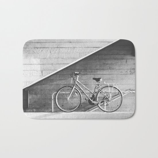 Bike and lines Bath Mat