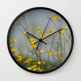 Yellow flowers 2 Wall Clock
