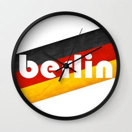 Berlin, with flag colors Wall Clock