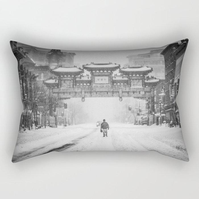 China snow Rectangular Pillow