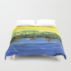 New Hope-Lambertville Bridge Duvet Cover