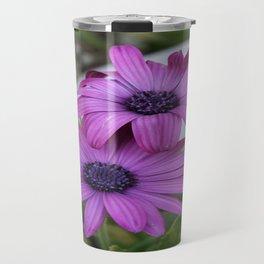 Purple and Pink African Daisy Flowers Travel Mug