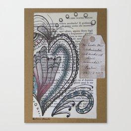 """""""He Heals the Broken Hearted"""" Canvas Print"""