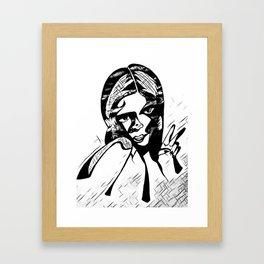 Peace in Grey Scale Framed Art Print