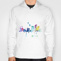 detroit Hoodies featuring Detroit City  by Monique Edwards