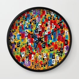 Laberinto multicolor Wall Clock