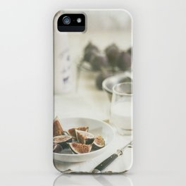 Breakfast with figs iPhone Case
